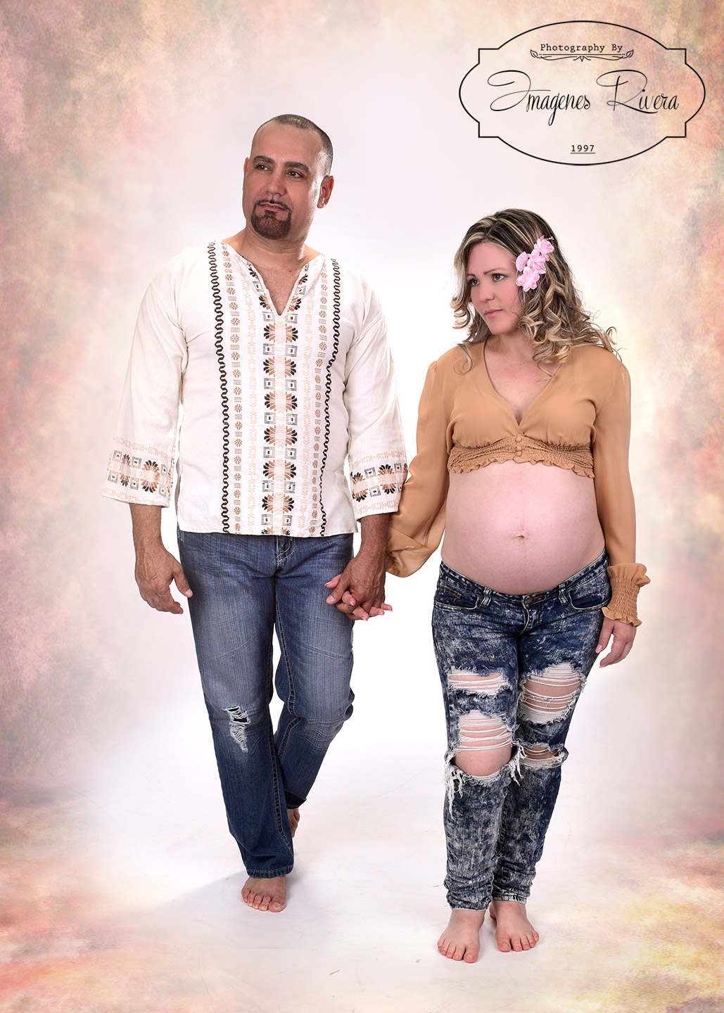 ♥ Rod Kirenia´s Maternity session in a Miami studio | Imagenes Rivera ♥