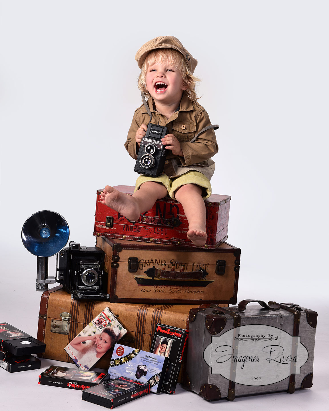 ♥ Cute kid portrait | Children photographer Imagenes Rivera ♥