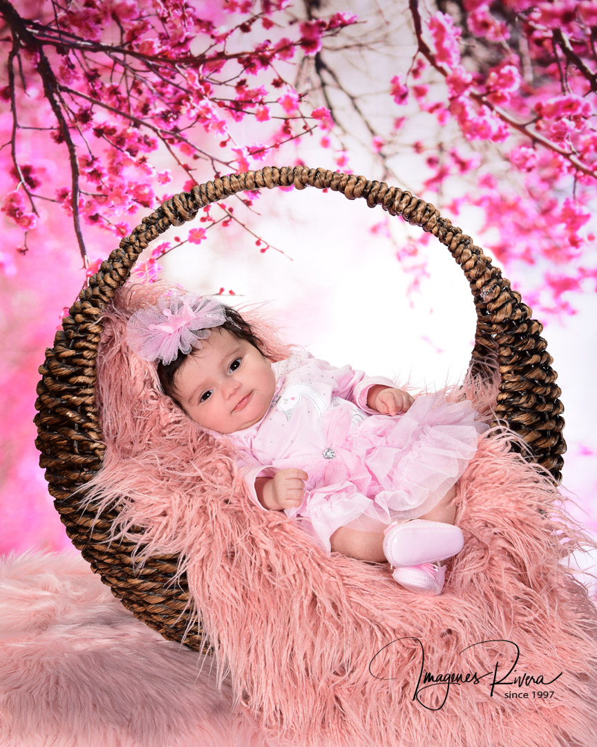 ♥ Two months baby girl photography | Portrait studio Imagenes Rivera ♥