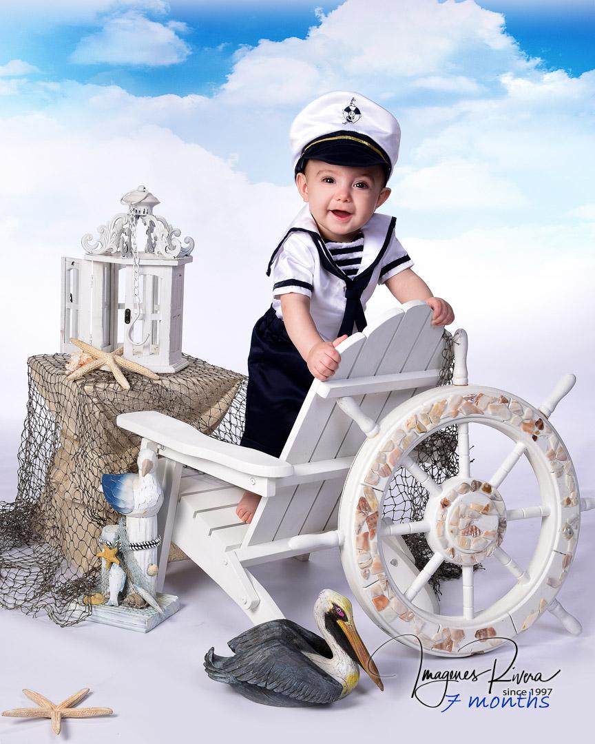♥ Cute baby milestone photos | Baby photographer Imagenes Rivera ♥