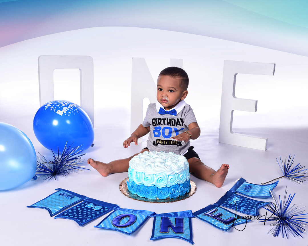 ♥ First Birthday Headshot | Toddler photographer Imagenes Rivera Miami ♥