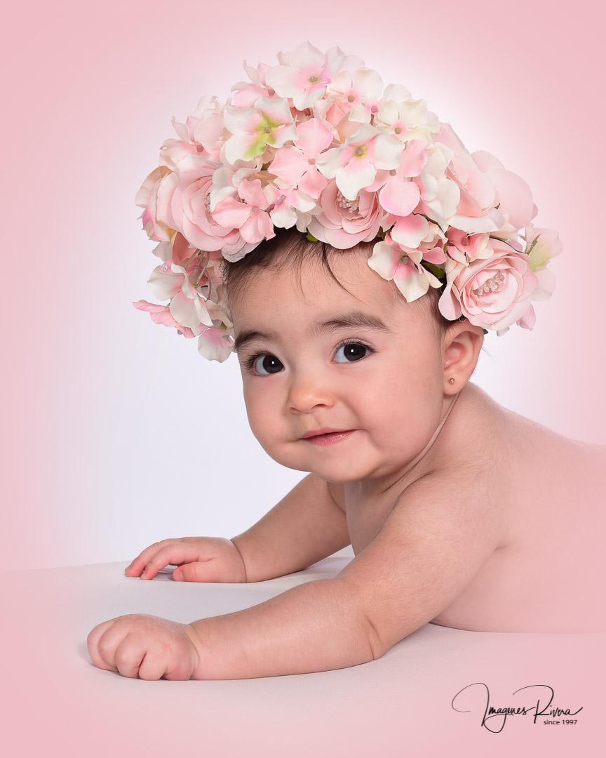 ♥ Baby girl milestone photo session | Imagenes Rivera ♥