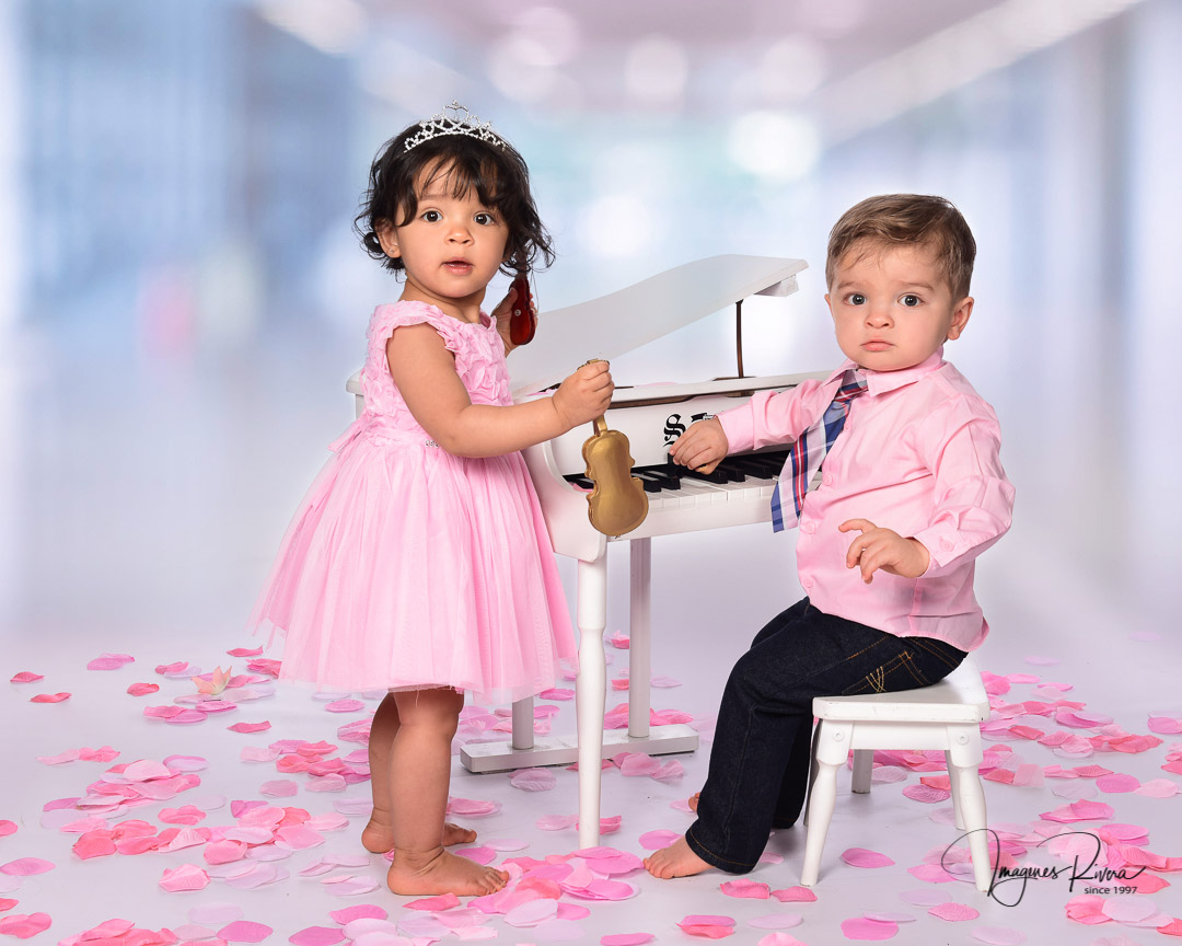 ♥ First Birthday Twins session | Baby's photographer Imagenes Rivera ♥
