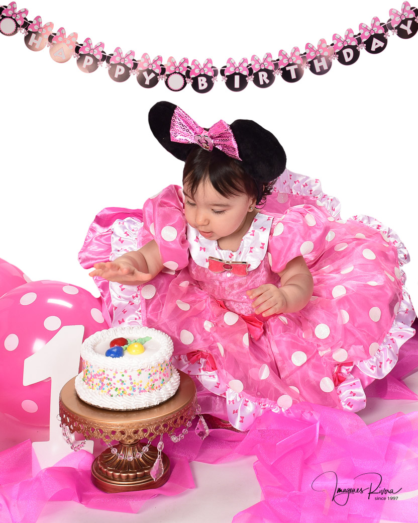♥ Smash Cake Minnie Mouse  | Toddler photographer Imagenes Rivera Miami ♥