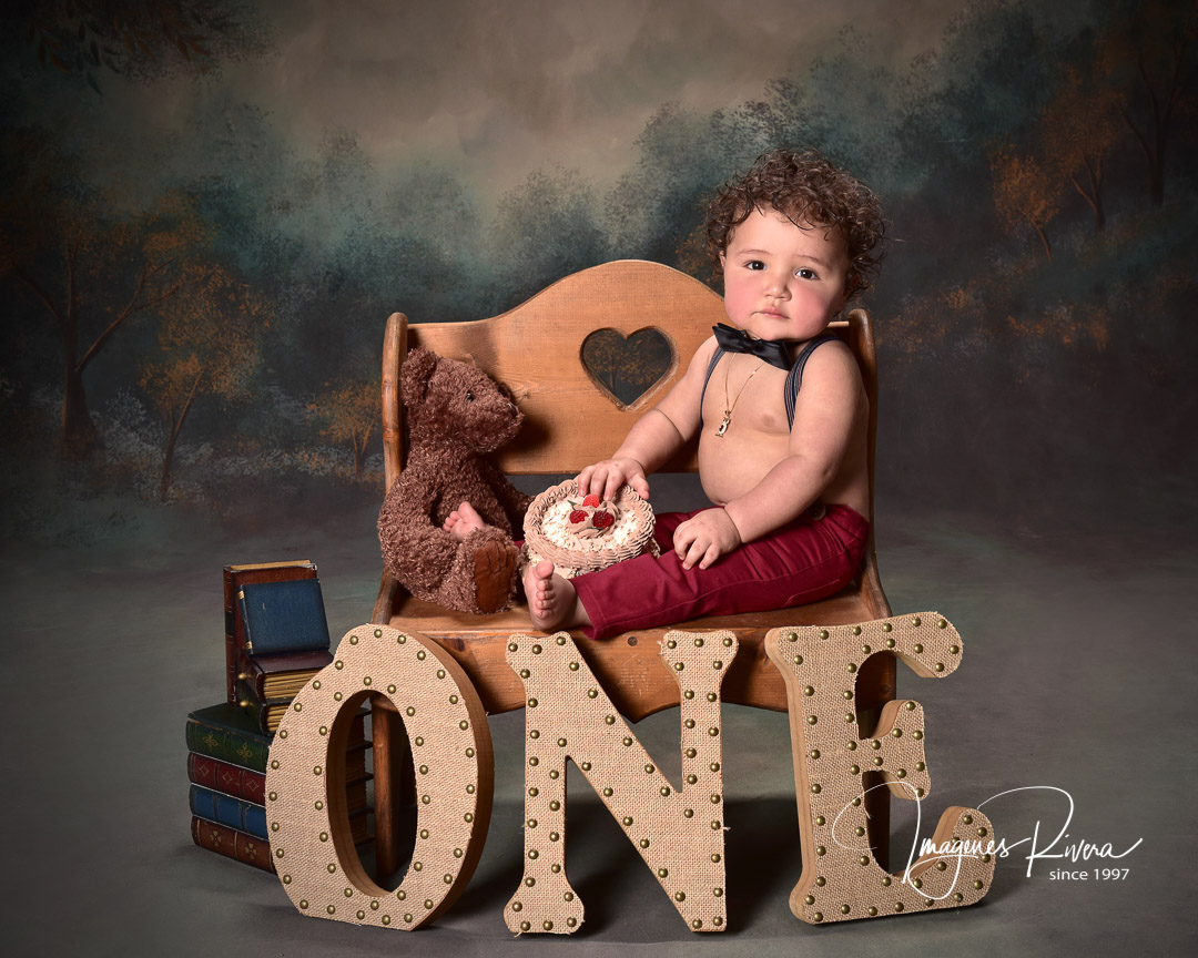 ♥ First year baby boy portrait | Toddler photographer Imagenes Rivera Miami ♥