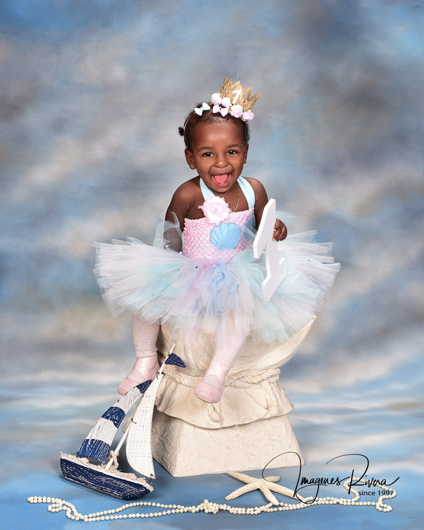 ♥ First Birthday Headshot | Toddler photographer Imagenes Rivera Miami ♥